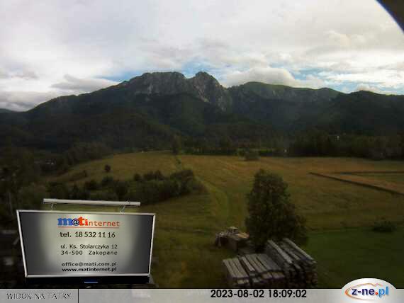 widok na Tatry z okna MATinternet s.c. ZAKOPANE - ul. Ks. Stolarczyka 12